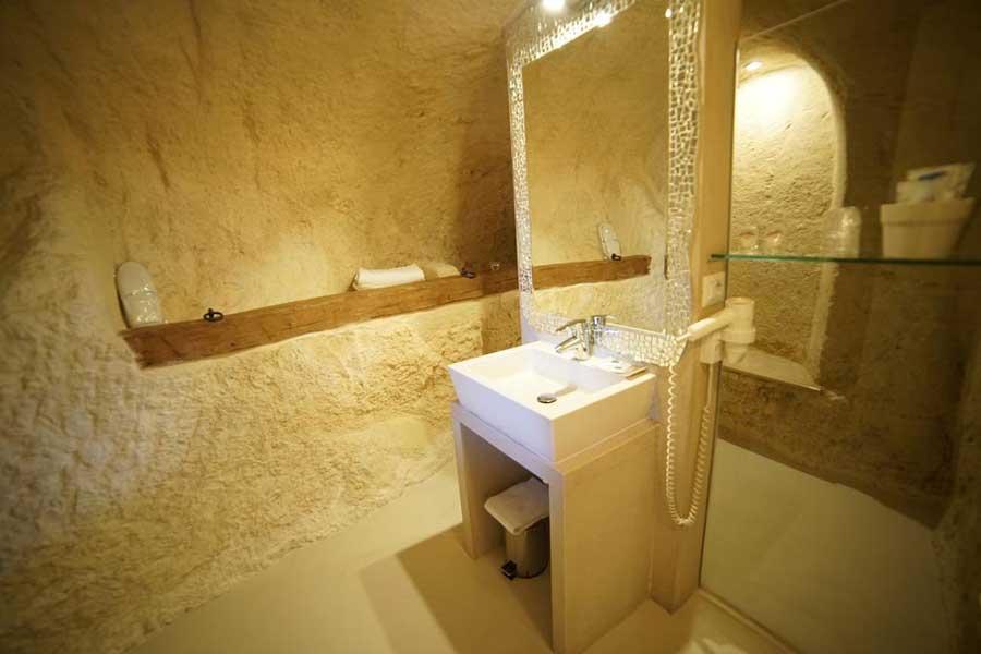 Uno dei bagni nelle camere