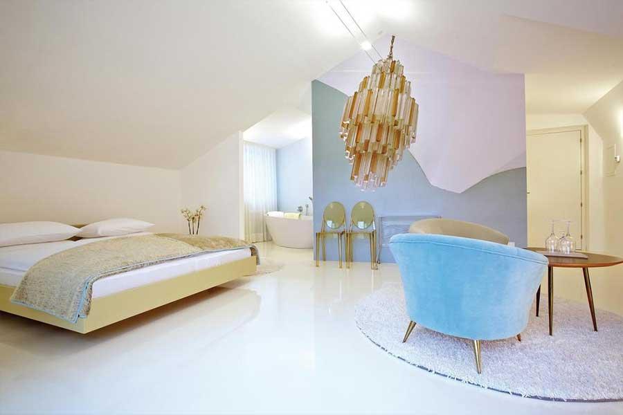 Un'altra delle particolari stanze