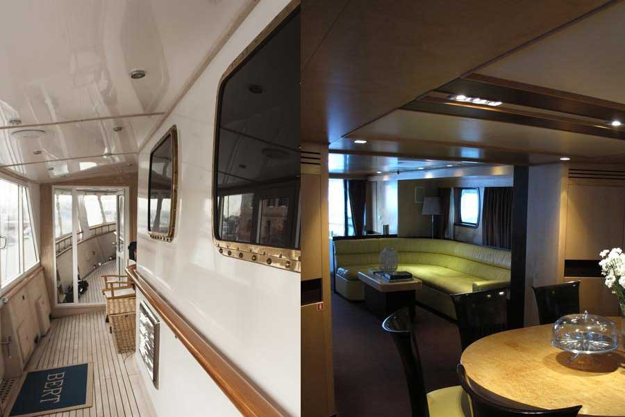 Interni ed esterni dello Yacht