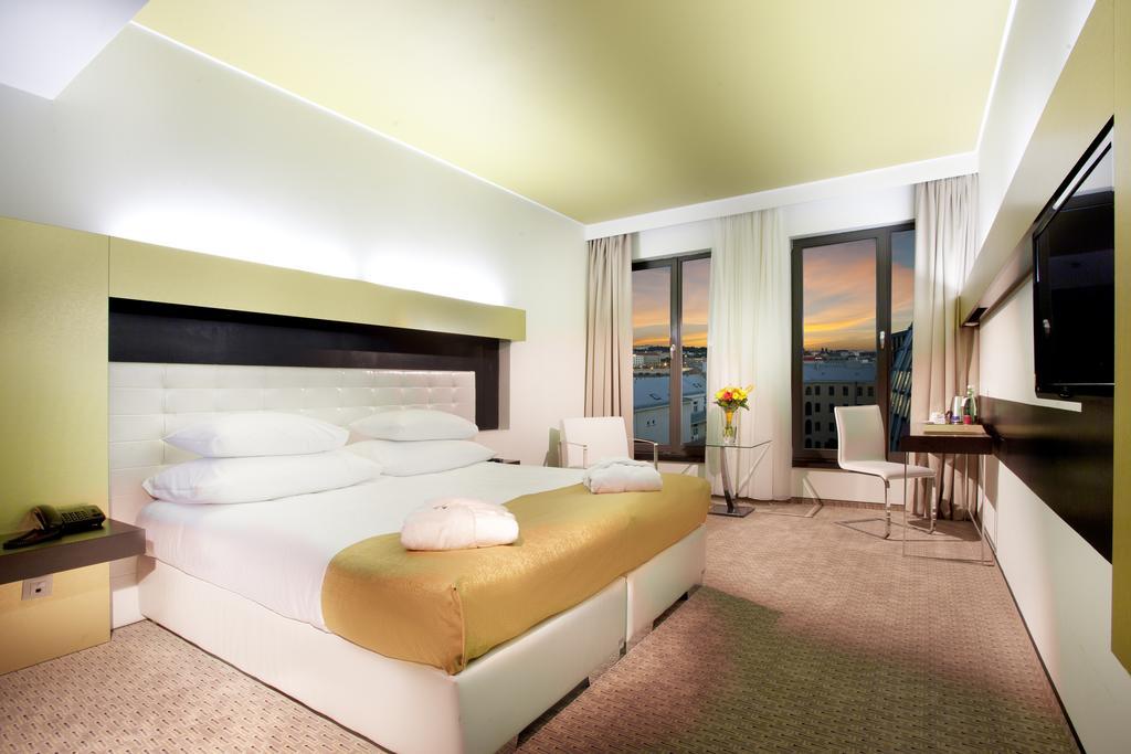 Una delle camere dell'Hotel Grandior