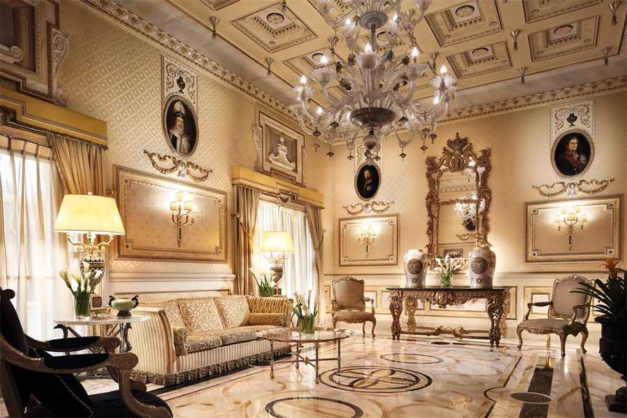 Hotel 5 Stelle Roma - La meravigliosa sala del Splendide Royal