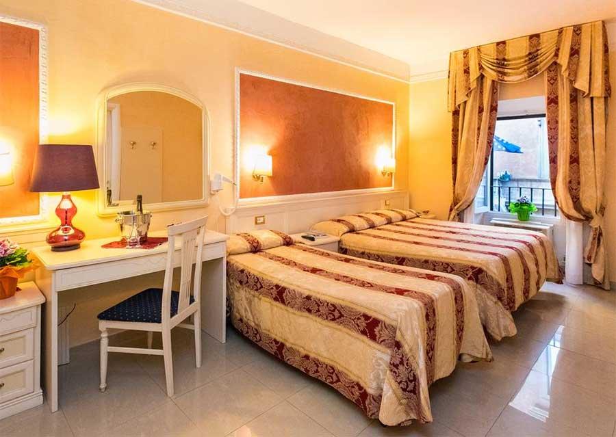 Una delle stanze hotel Erdarelli