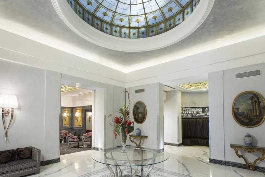 La sala dell'Hotel Artemide