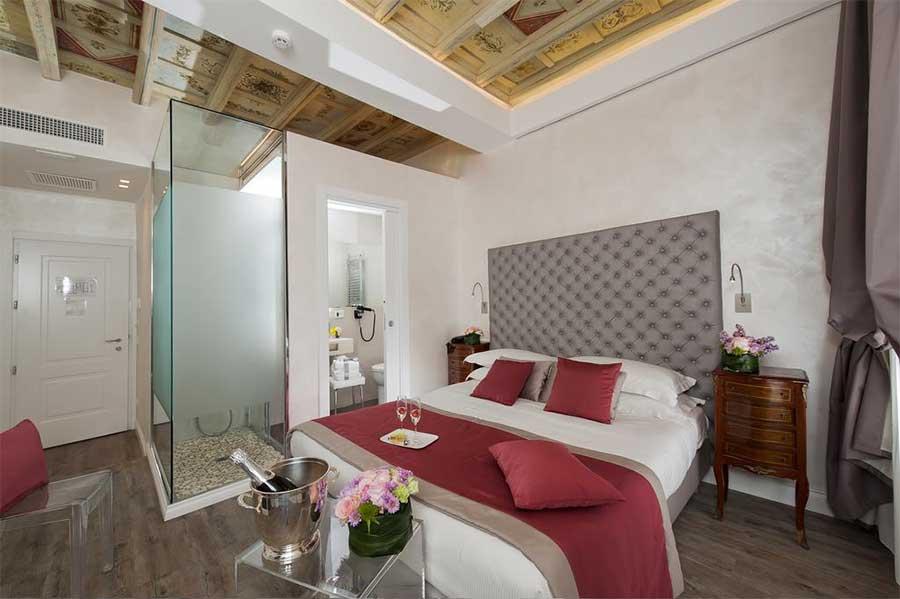 Una delle fantastiche camere dell'Hotel Navona