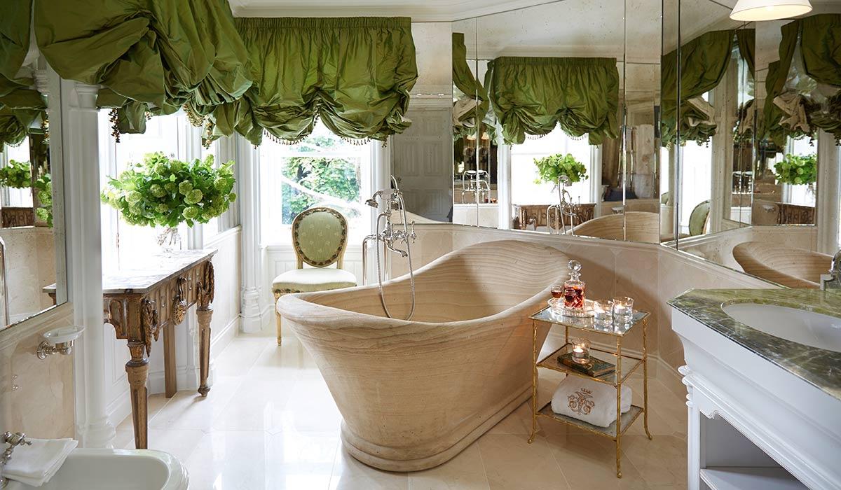 Il bagno di una delle camere