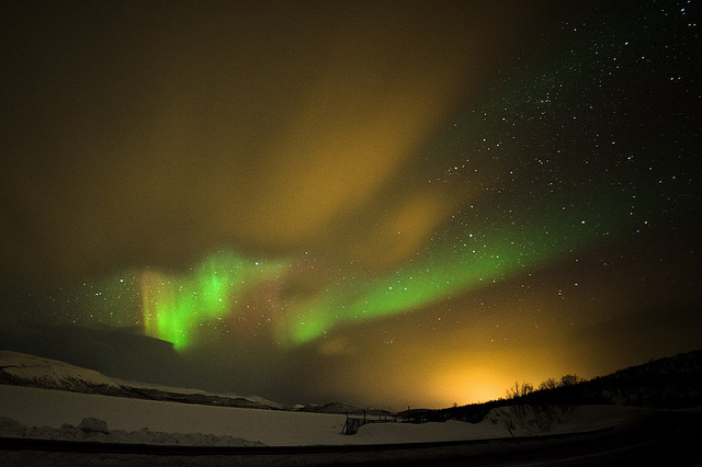 Una magnifica aurora boreale