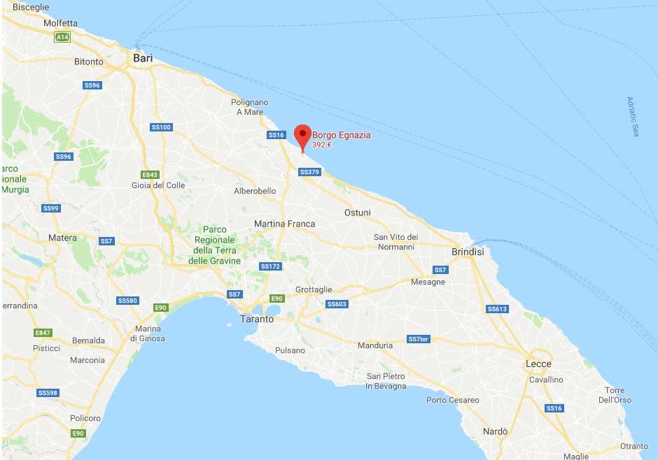 Dove si trova Borgo Egnazia