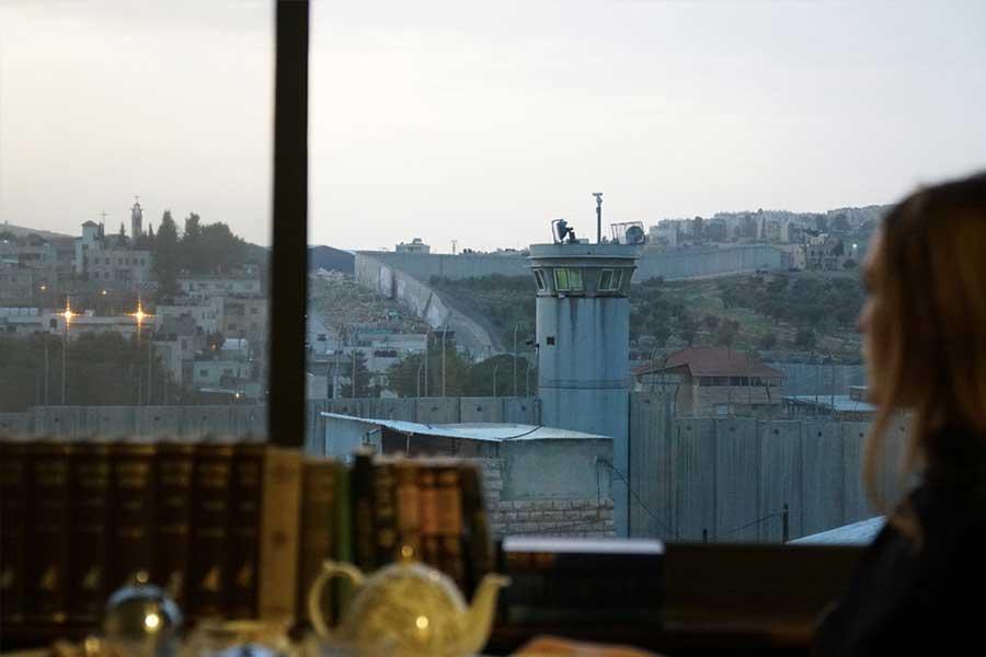Vista del muro dall'Hotel