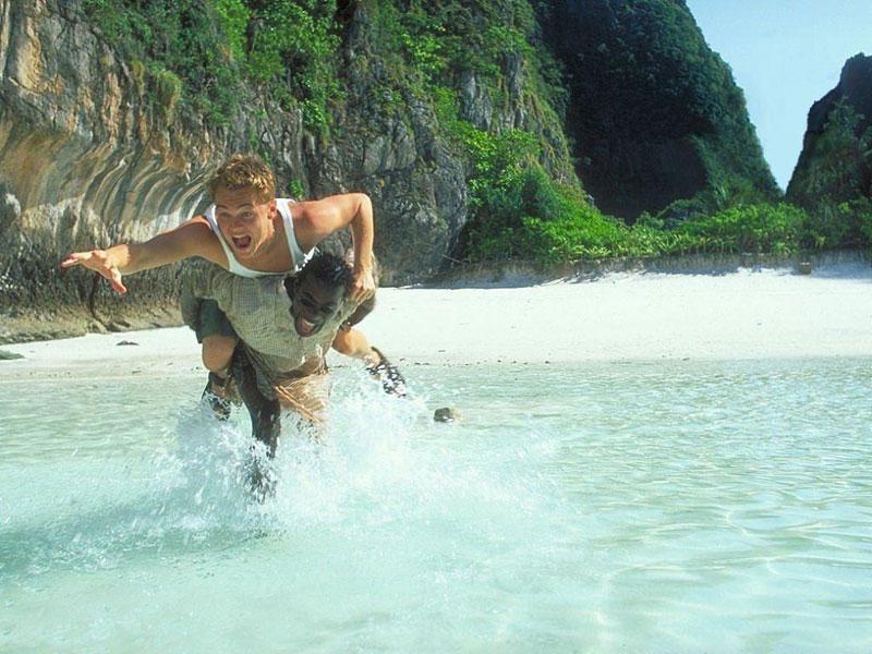 Una scena del film The Beach