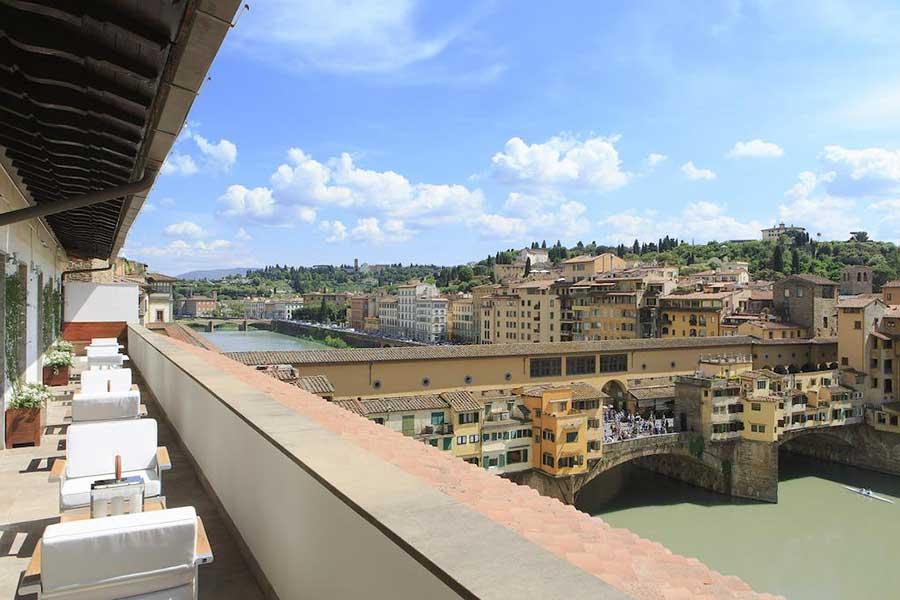La vista dal Portrait Firenze