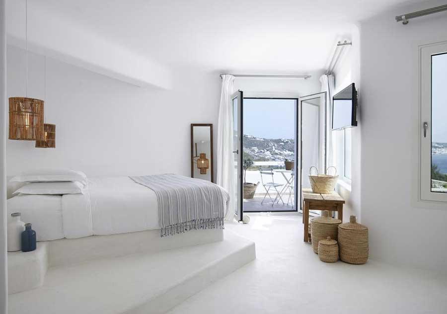 Una delle favolose camere del Rocabella Mykonos Hotel