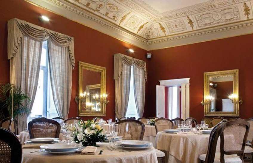 La bellissima sala colazioni