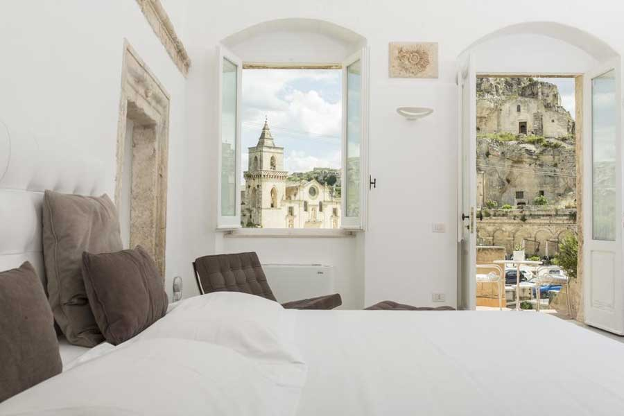 Una delle camere del Sant'Angelo Luxury Resort