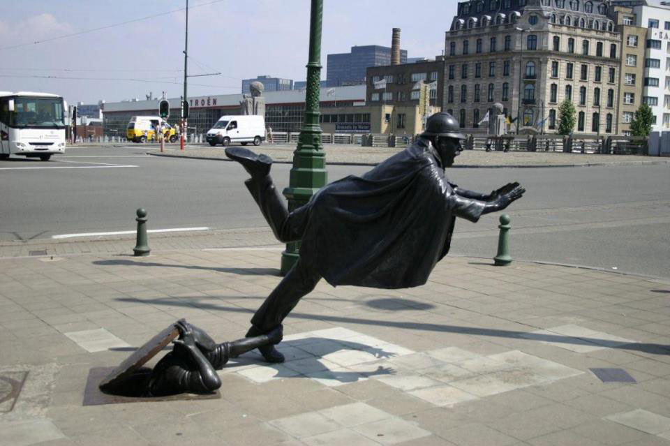 Scultura di Strada a Bruxelles