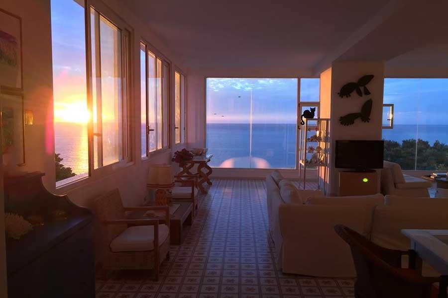 Woow ecco il tramonto che si vede dall'hotel