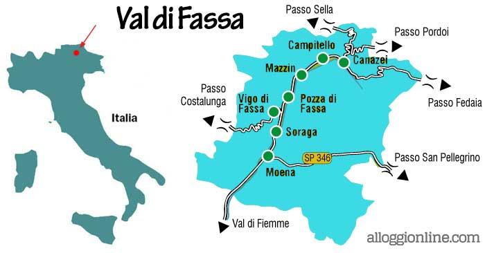 Dove si trova la Val di Fassa