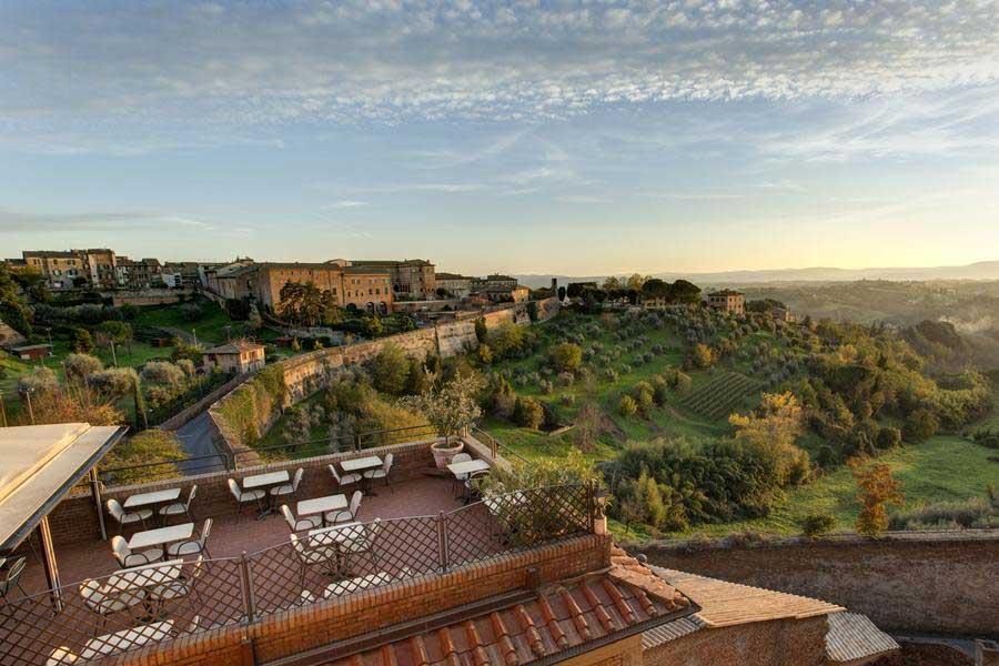 Vista di Siena dall'Hotel Athena